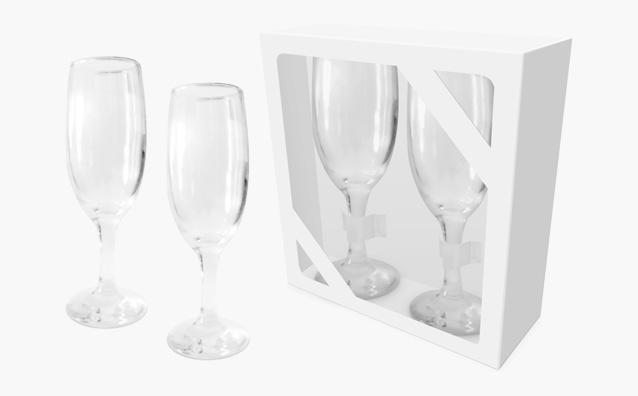 2 kieliszki do szampana OP43